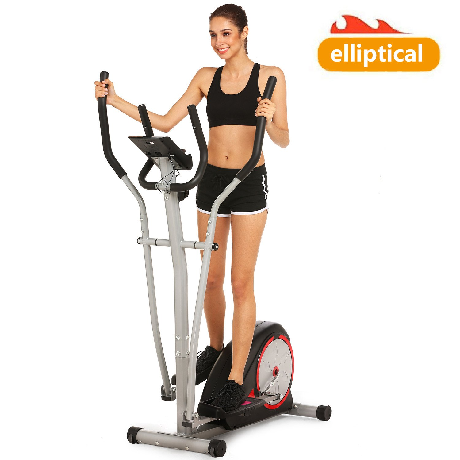 Bestlucky Elliptical Trainer Machines Magnetic Elliptical Workout Machine for Home Use (US Stock) Shown