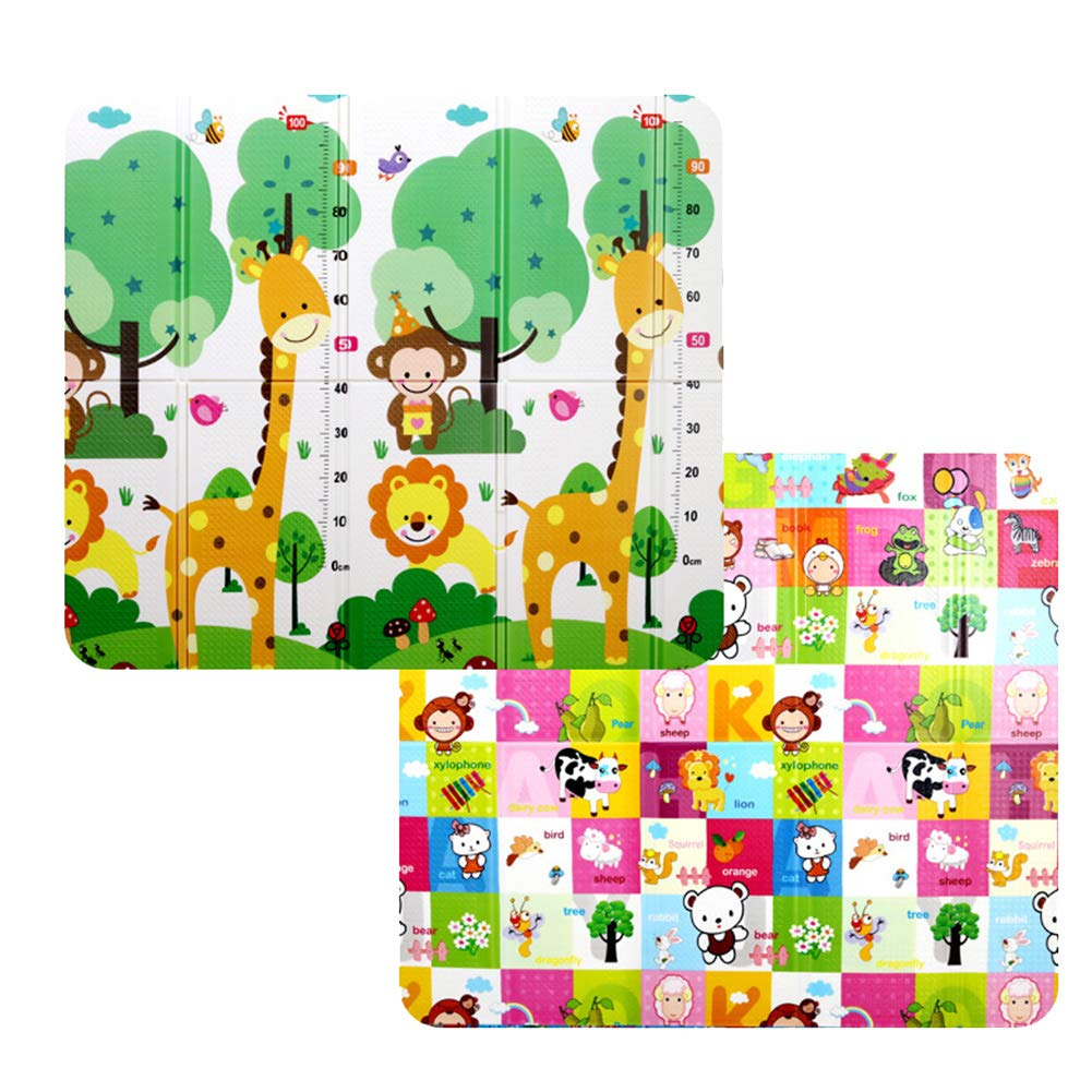 AIBAB XPE Environmentally Friendly Baby Crawling Mat Home Multifunction Fold Doublesided Thickening Baby Play Mat