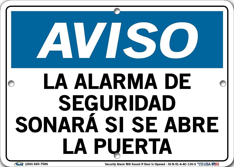 Vestil Spanish Notice Sign SI-N-51-A-AC-130-S Aluminum ...