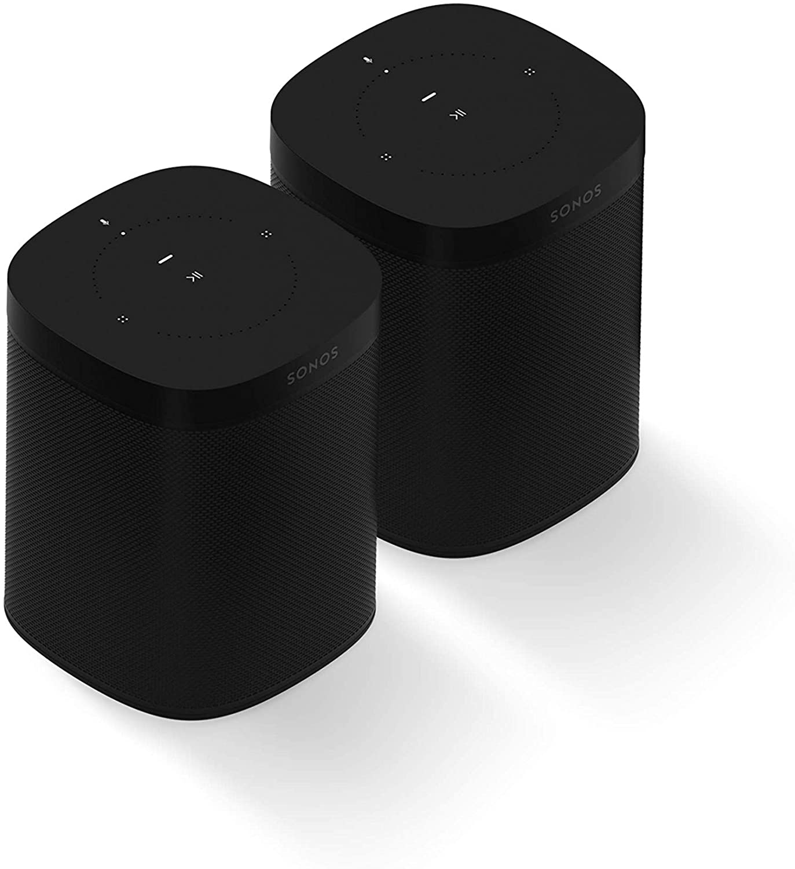 Sonos One (Gen 2) Two Room Set Voice Controlled Smart Speaker with Amazon Alexa Built In (Black)