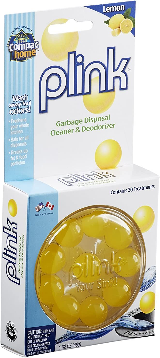 Compac Plink Scented Garbage Disposal Cleaner & Deodorizer, Lemon, 40 Count