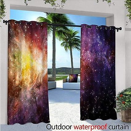 Amazon.com: BlountDecor - Cortinas de balcón para galaxia ...