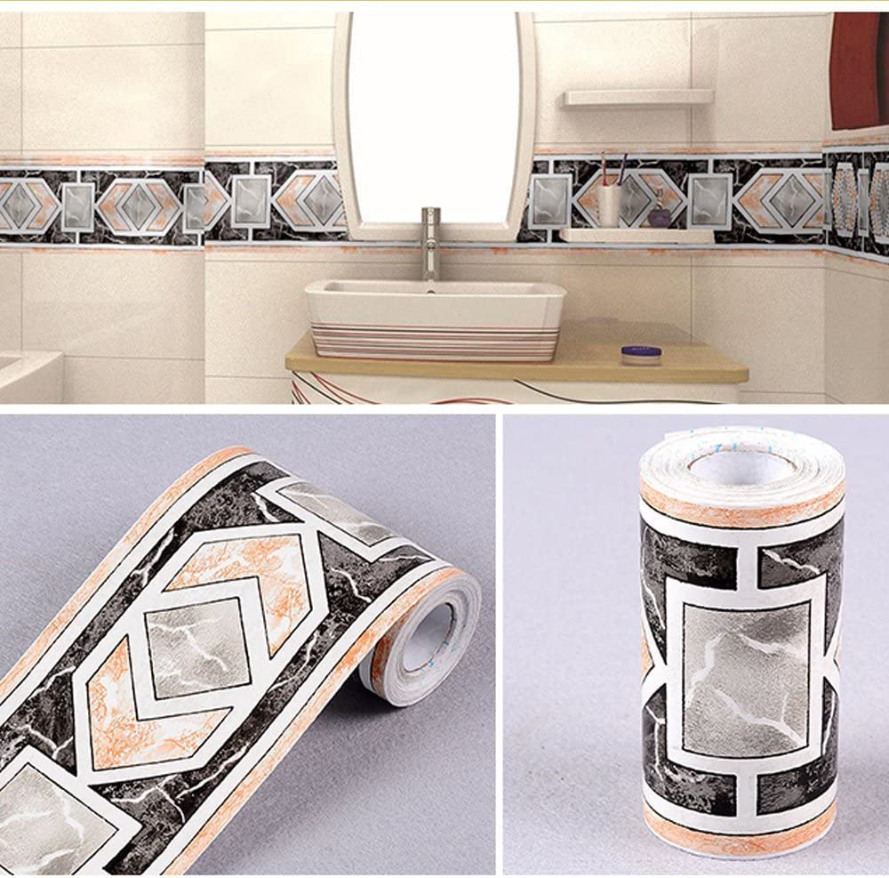 Yifely Modern Geometric Wallpaper Border Self Adhesive Wall