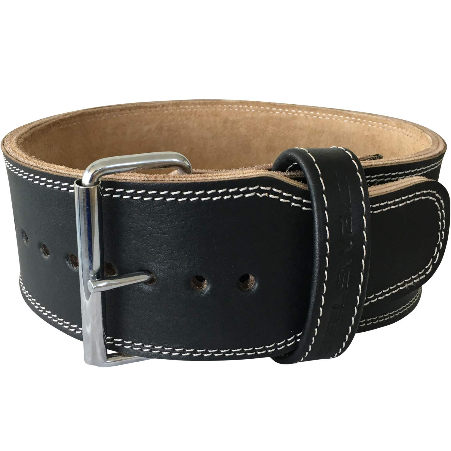 Steel Sweat Weight Lifting Belt - 4 Inches Wide by 10mm - Single Prong Powerlifting Belt That's Heavy Duty - Genuine Cowhide Leather - Medium Texus by Steel Sweat (Image #2)