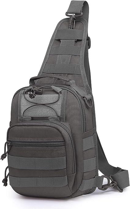 Mardingtop Poitrine Sac Crossbody Pack pour Hommes Femmes Voyage en Plein Air Épaule Pack Sac À Dos Daypack Sac d'Epaule Militaire Tactical Sac