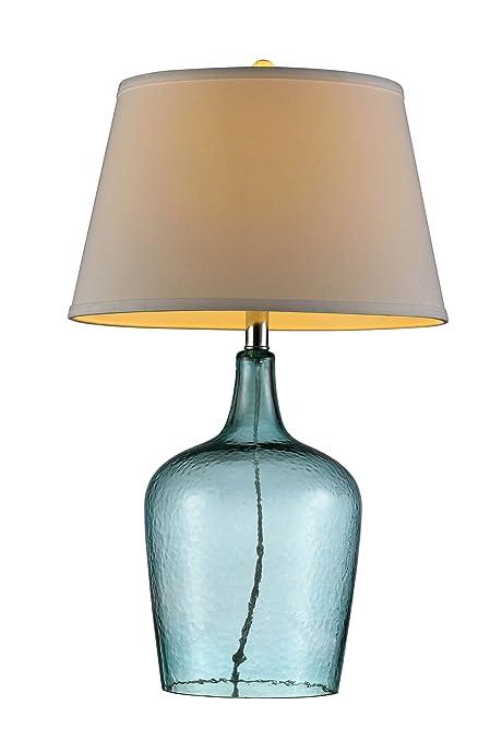 Amazon.com: Lámpara de mesa de vidrio OK ...