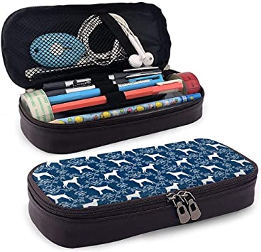 Estuche de lápices Alemán Shorthair Pointer Dog Bolso de lápices de gran capacidad con doble cremallera Portalápices para escuela/oficina: Amazon.es: Oficina y papelería