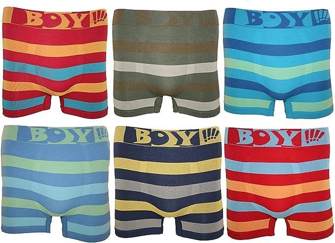 LOREZA /® 5//10 Peaces Boys Kids Underwear Boxer Shorts in Cotton Basics 2-15 Years