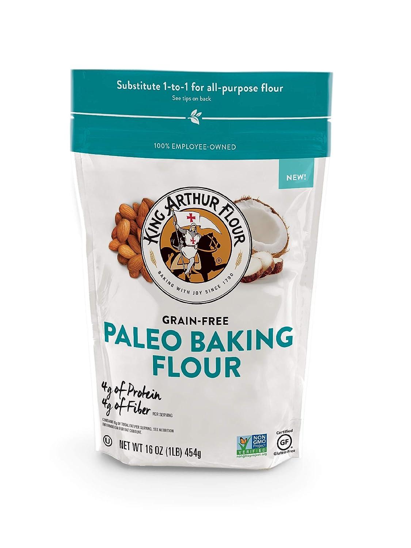 King Arthur Flour Paleo Flour, Gluten Free Certified, Non Gmo Certified, 1-to-1 All Purpose Flour Substitute, 16 Oz