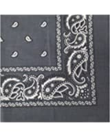 Paisley Bandanas 100% Cotton By The Dozen, Head Wrap 22 x 22
