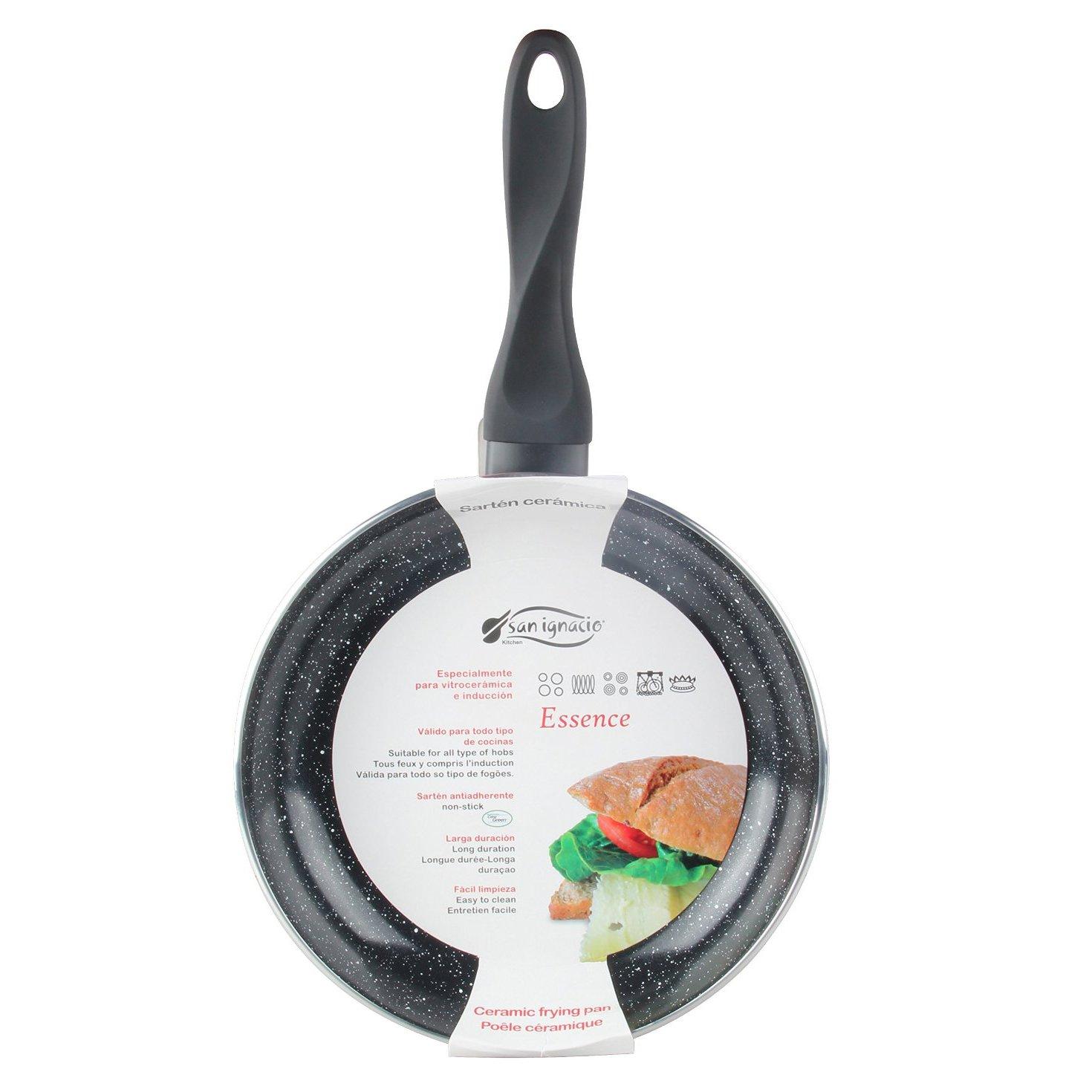 San Ignacio SARTEN 30cm Soft Touch Black Essence, Aluminio, Negro mármol, 30x11x7 cm: Amazon.es: Hogar