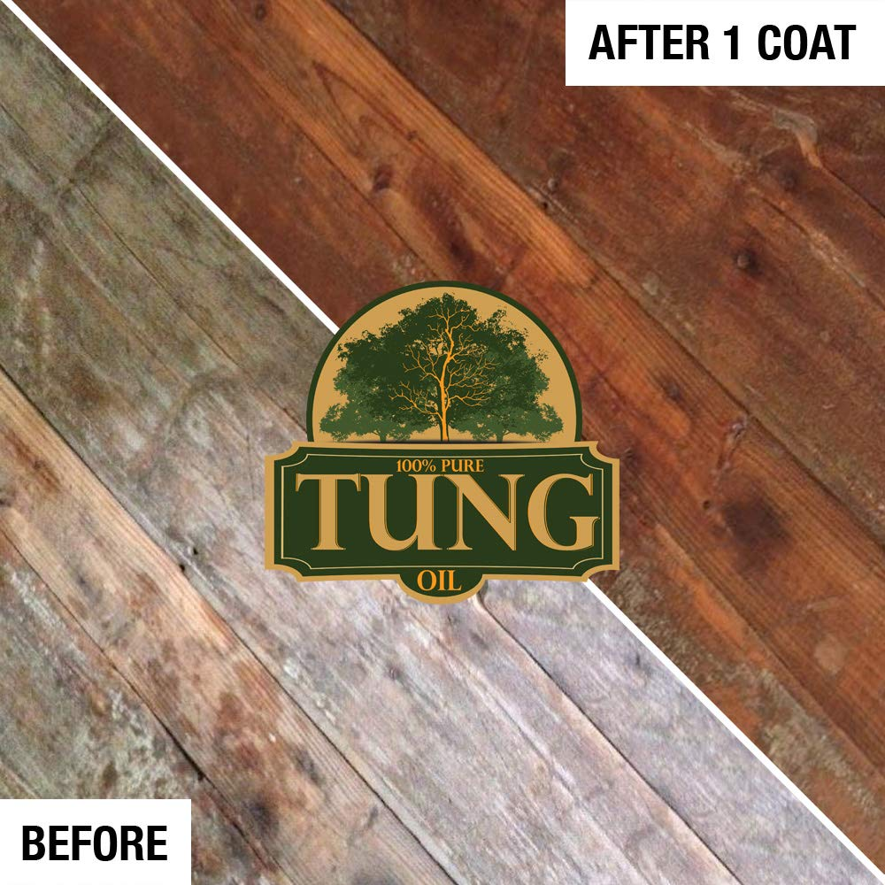 100% Pure Tung Oil Finish Wood Stain & Natural Sealer for All Types of Wood (12 x 32 oz Case) by FDC Chem (Image #6)