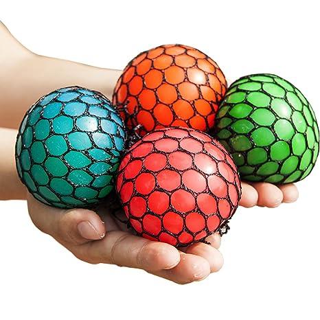 bingole 4 piezas al azar de malla Squishy pelotas antiestrés UVA aliviar la presión pelotas