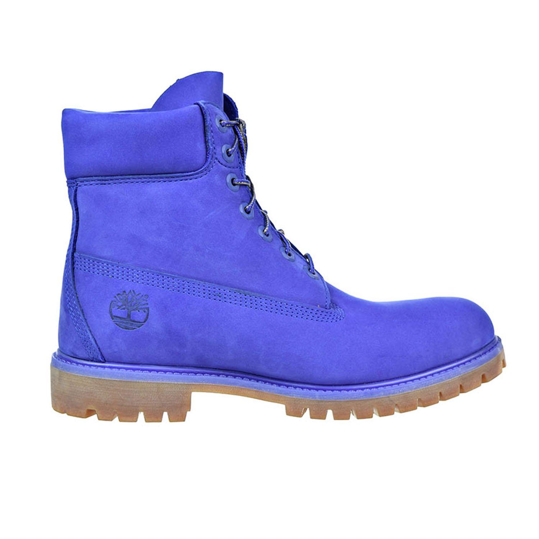 Timberland 6 Inch Premium Waterproof Men's Blue Boots tb0a1p5u (12 D(M) US)