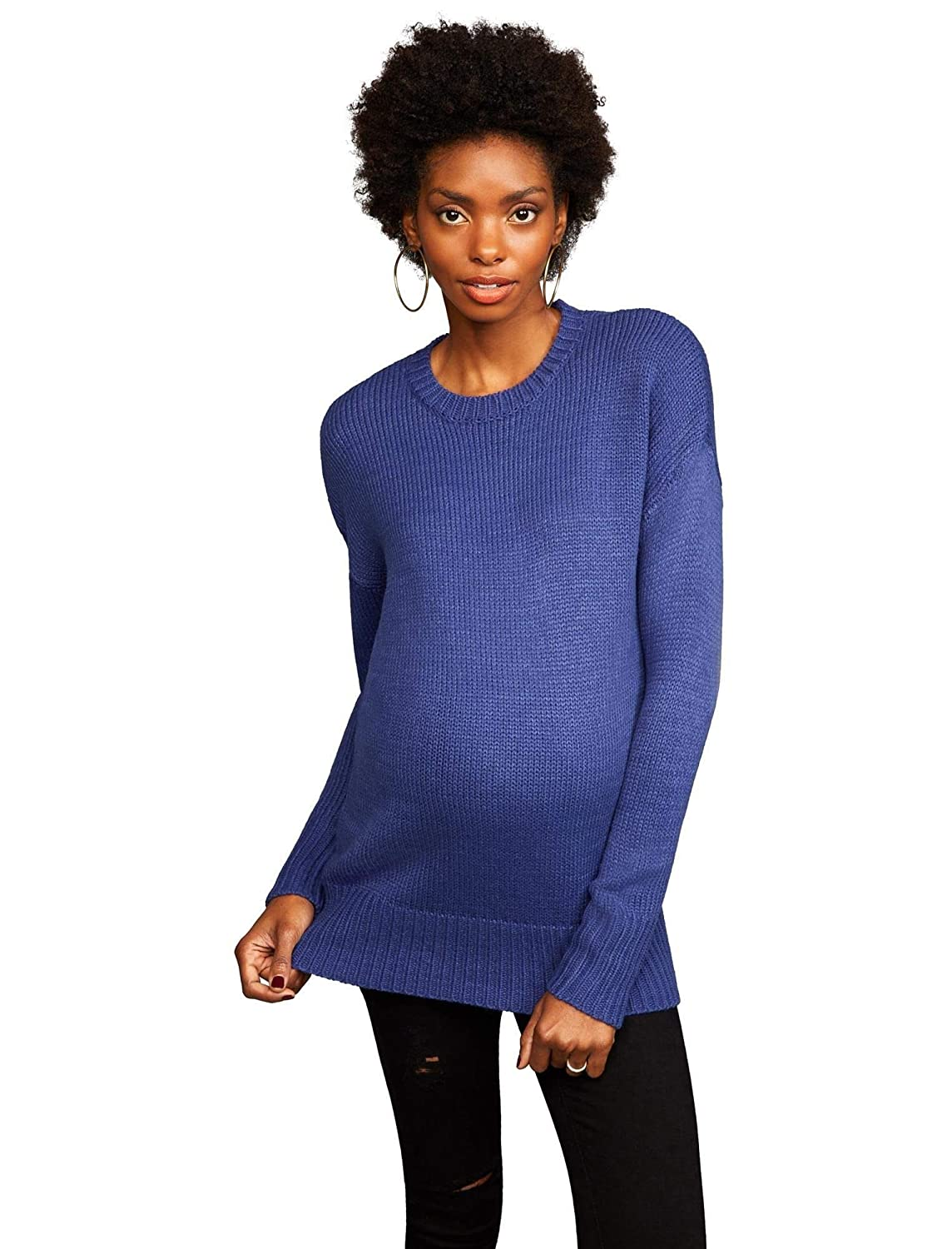 5f72fffc6c9a3 Lace Back Maternity Pull Over at Amazon Women's Clothing store: