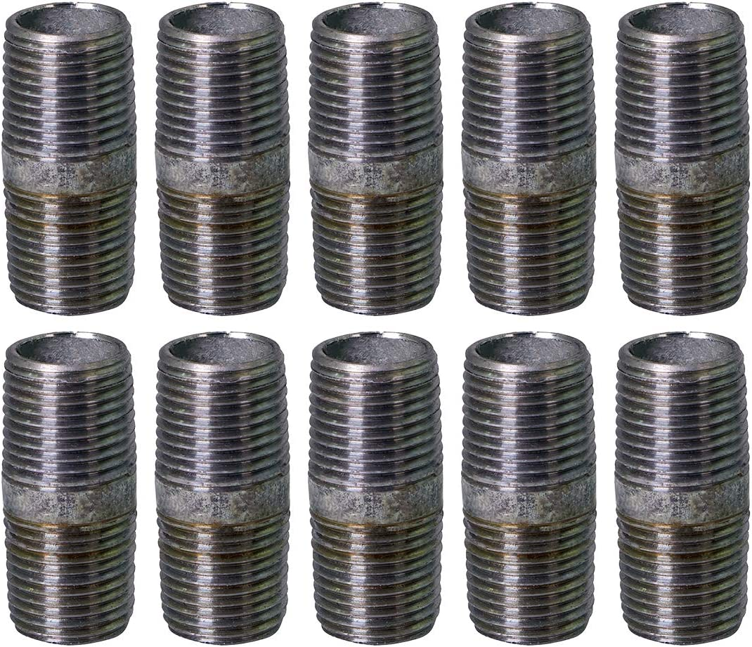 Supply Giant OQHM1020-10 Steel Nipple Pipe Galvanized, 1
