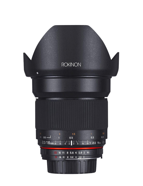Rokinon 16MAF-N 16mm f/2.0 Aspherical Wide Angle Lens for Nikon (DX) Cameras [並行輸入品]   B019SZ7HYY