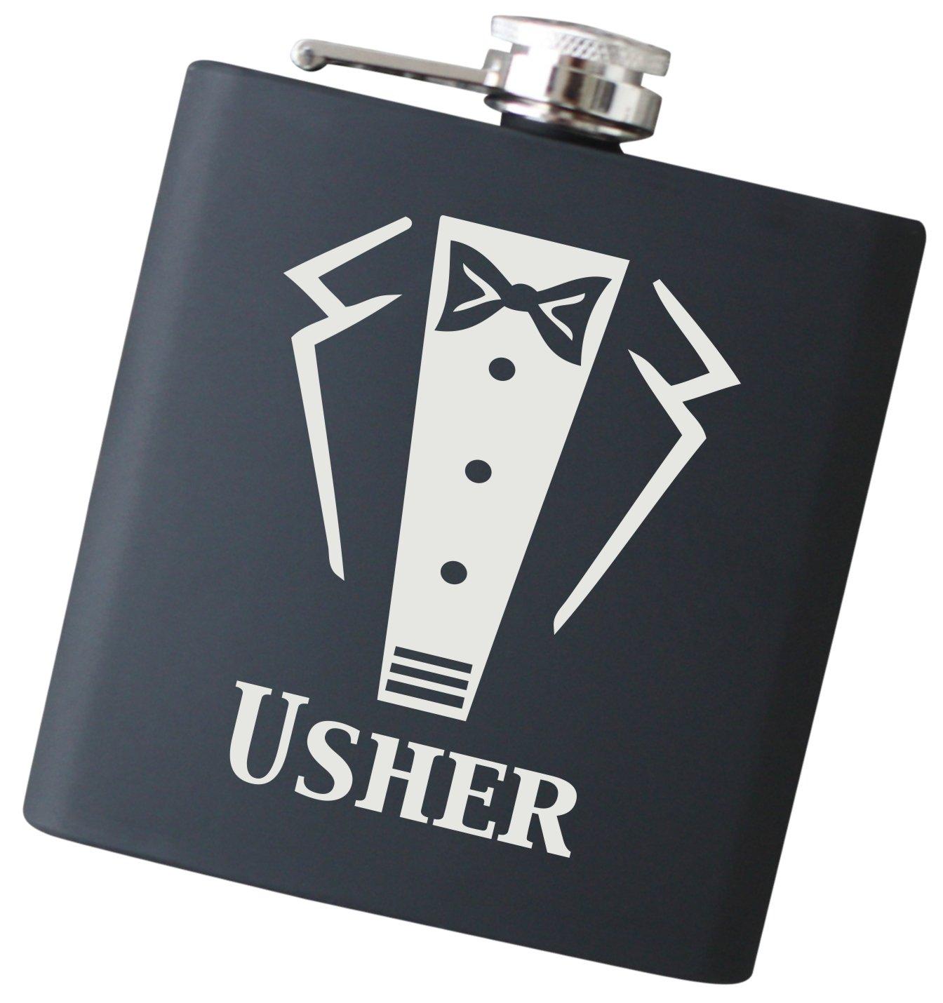 【有名人芸能人】 Engravedウェディングパーティータキシード6オンスフラスコ – Will F59_BK Will You Be My Liquorヒップフラスク Usher F59 My_BK Usher B01N4JPAWM, 大人かわいい雑貨とお洋服hitaya:9f138fdb --- a0267596.xsph.ru