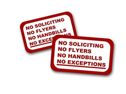 no soliciting no flyers no handbills no exceptions signs 2