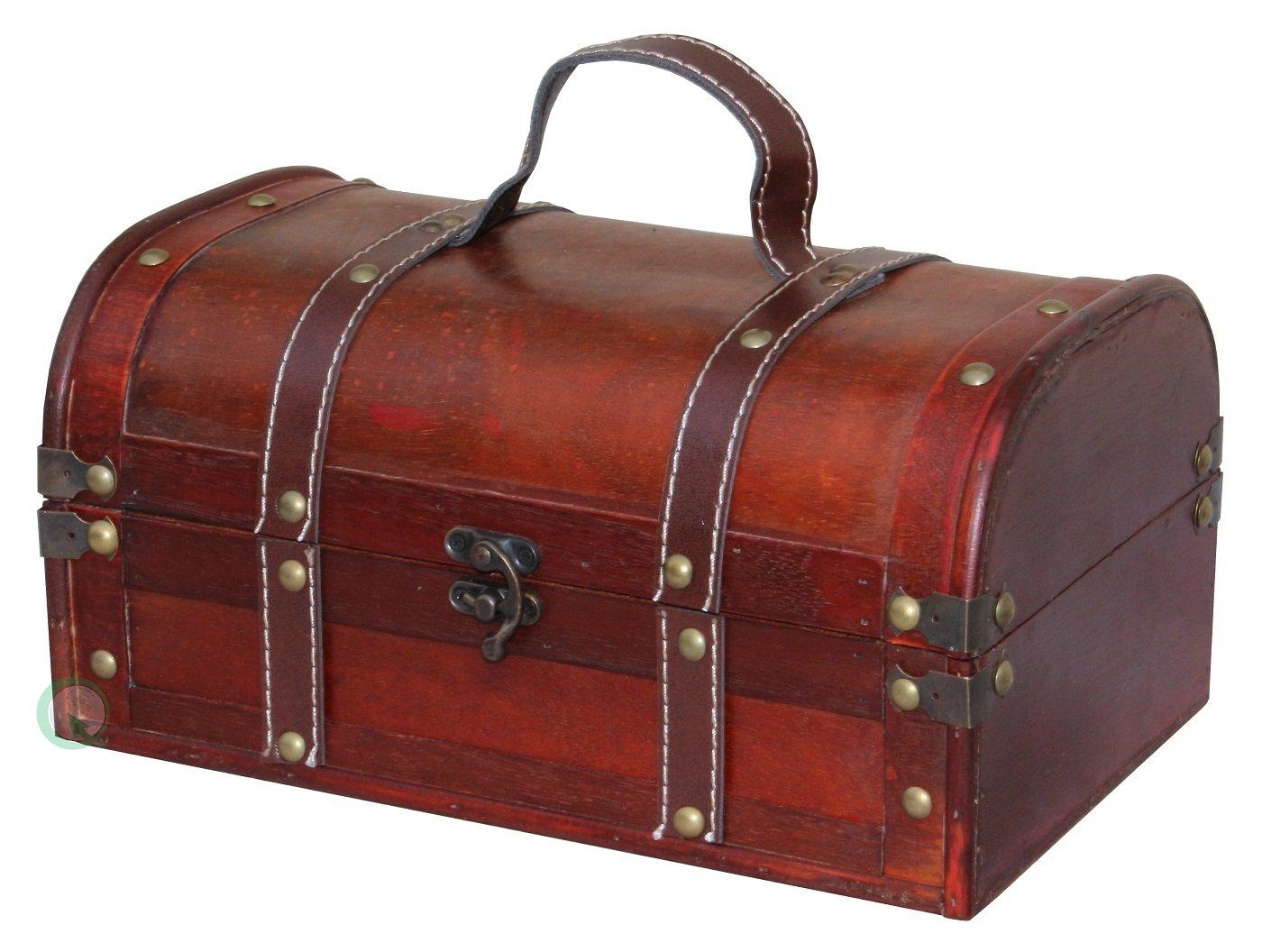 Vintiquewise(TM Decorative Wood Treasure Box - Wooden Trunk Chest Quickway Imports QI003004.L