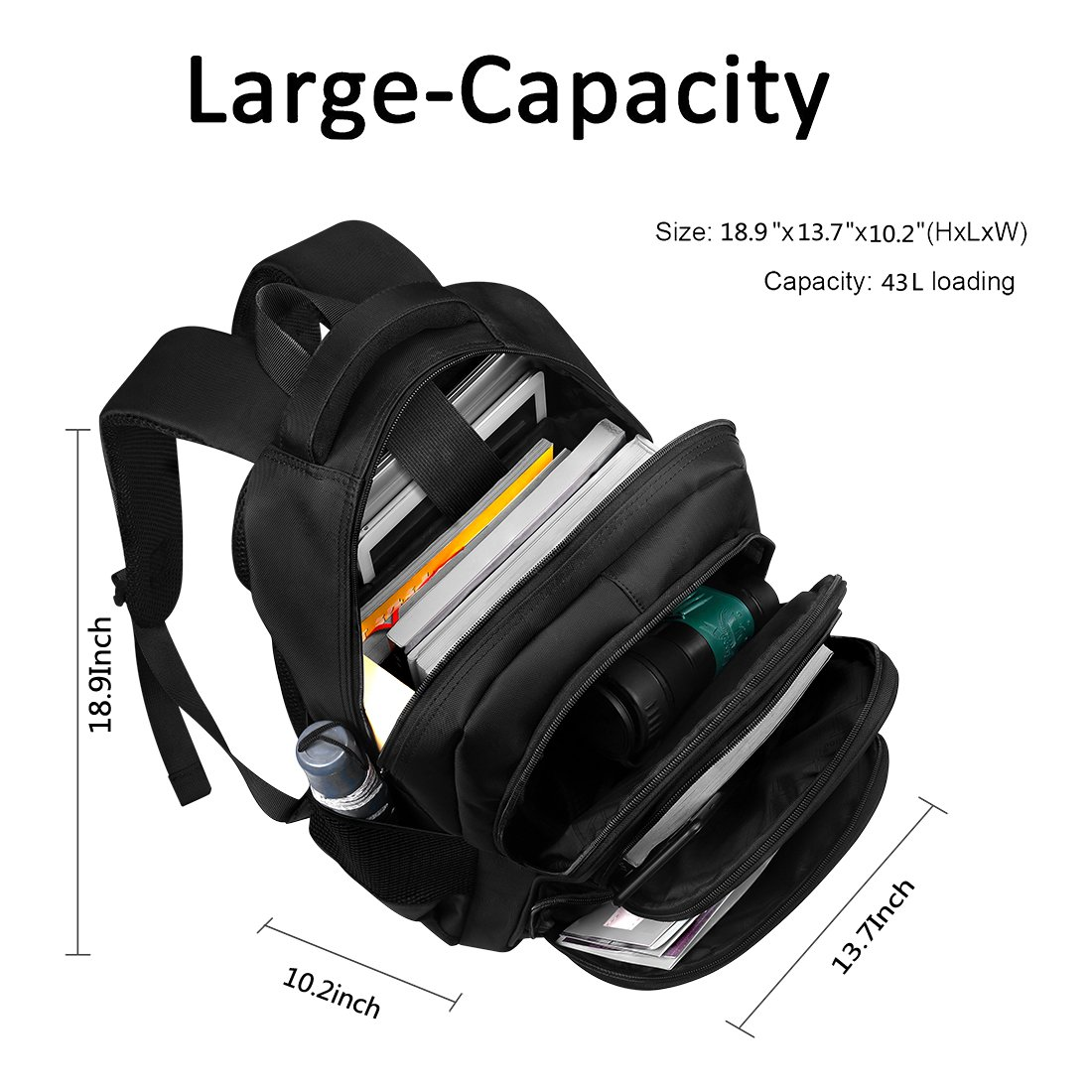 Laptop Backpack, Water-resistent Business Loop Backpack, 15.6 Inch Backpack by ShangYu (Image #2)