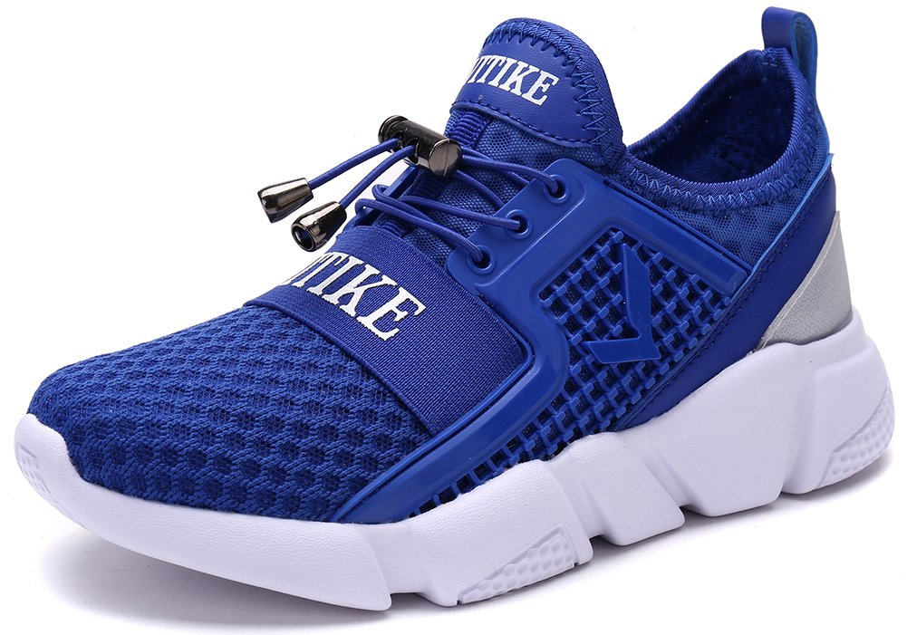 VITIKE Boy's Girl's Lightweight Breathable Sneakers Strap Athletic Running Shoes
