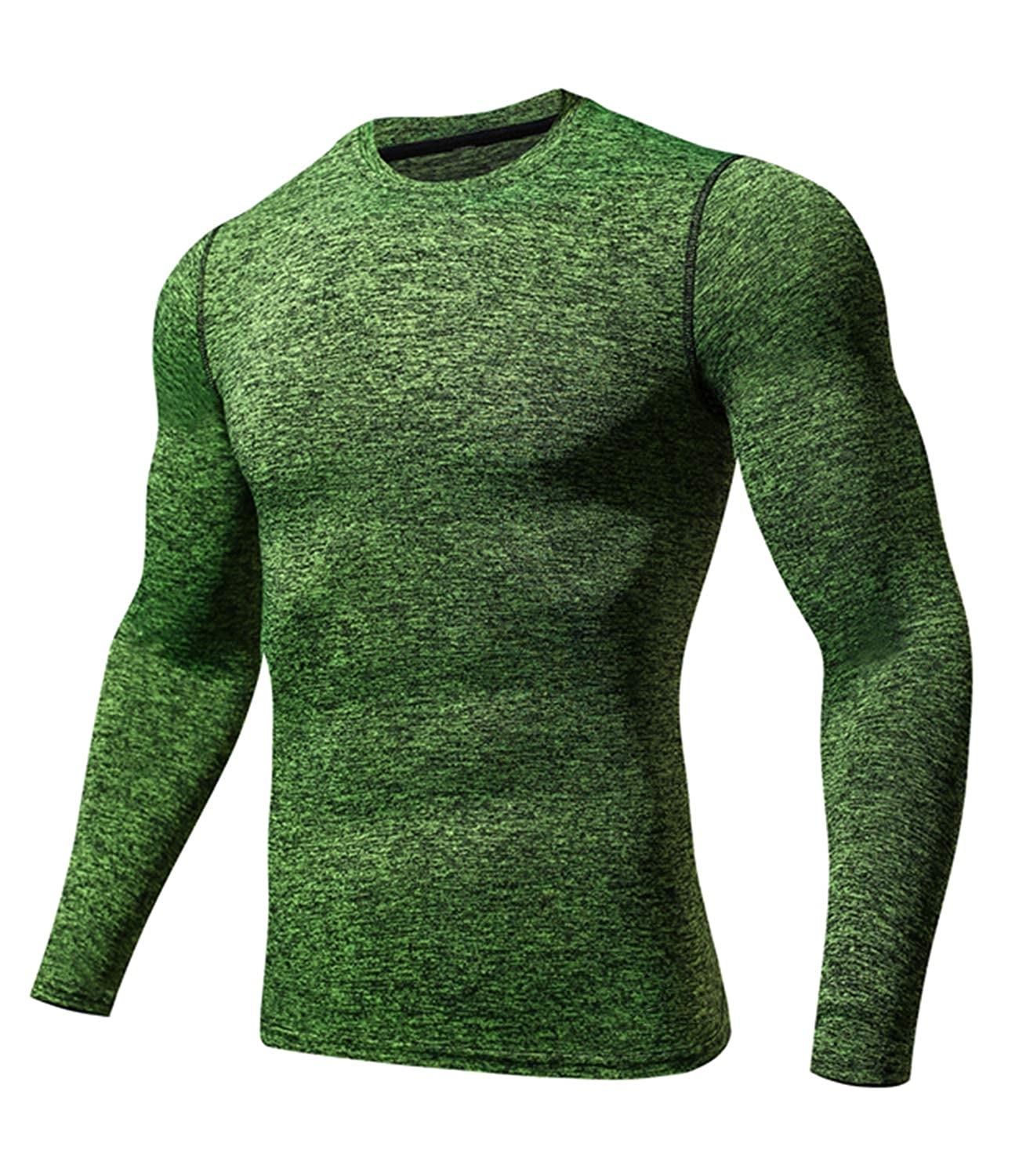 Green XLarge Outto Men's Long Sleeve TShirt Cool Dry Compression Base Layer for Sports