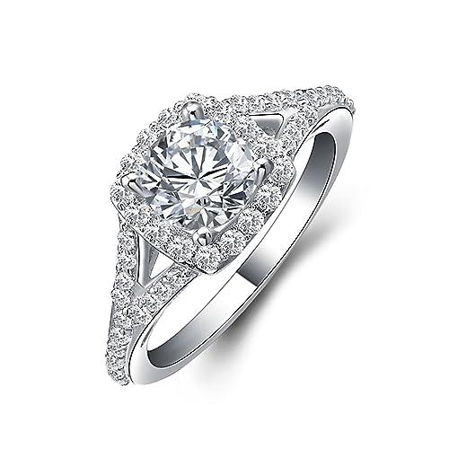 solitario anello argento