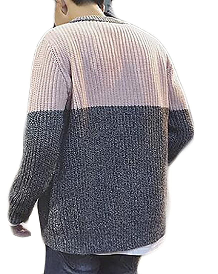 Xswsy XG Mens Autumn Casual Full Zipper Round Neck Cardigan Sweater