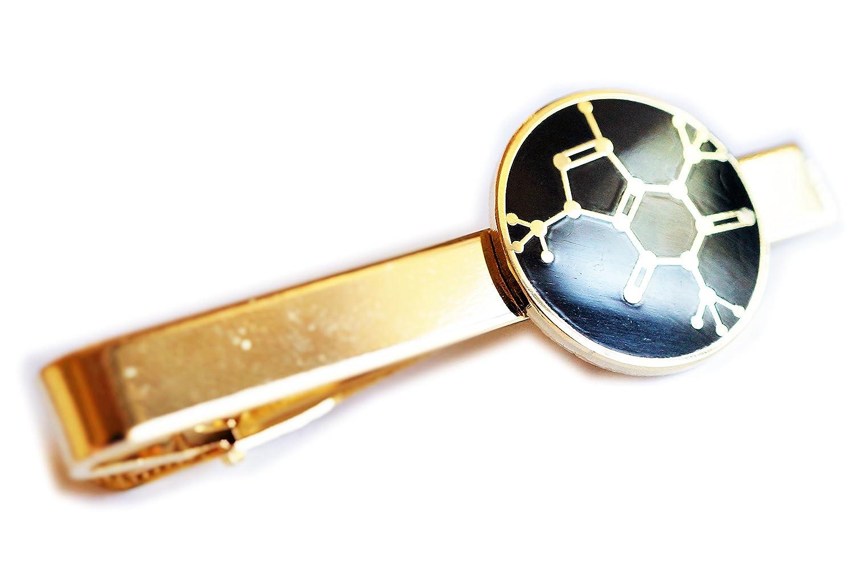 Cafeína molécula química café té Soda Tie Bar Clip: Amazon.es: Joyería
