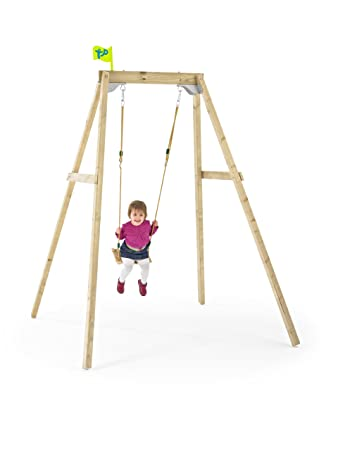 Amazon.com: TP Toys Forest Wooden Single Swing Set For Ages 3 - 10 ...