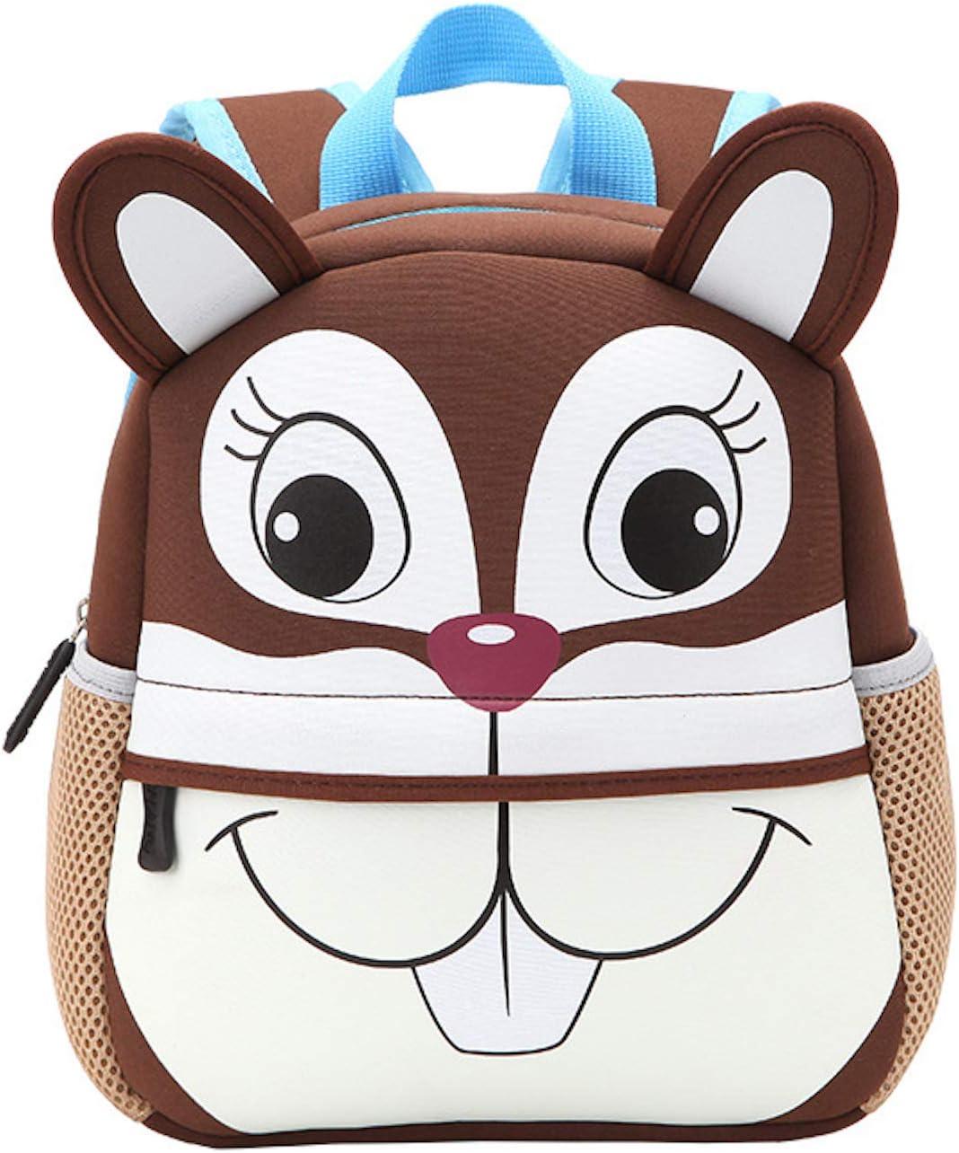 ZumZup KidsBackpacks Waterproof for Toddler Little Kids Cute Animals Backpack Squirrel S