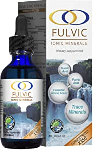 Water Extracted Fulvic Acid X350 - Concentrated Plant Based Ionic Trace Minerals - Liquid Minerals - 6 Month Supply - 2 oz