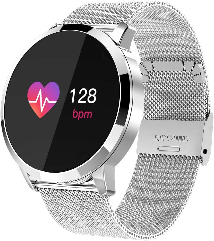 Adsvtech Smart Watch, Bluetooth Smartwatch for Women Men, Sports Fitness Tracker IP67 Waterproof with Heart Rate Blood Pressure Sleep Monitor Calorie ...