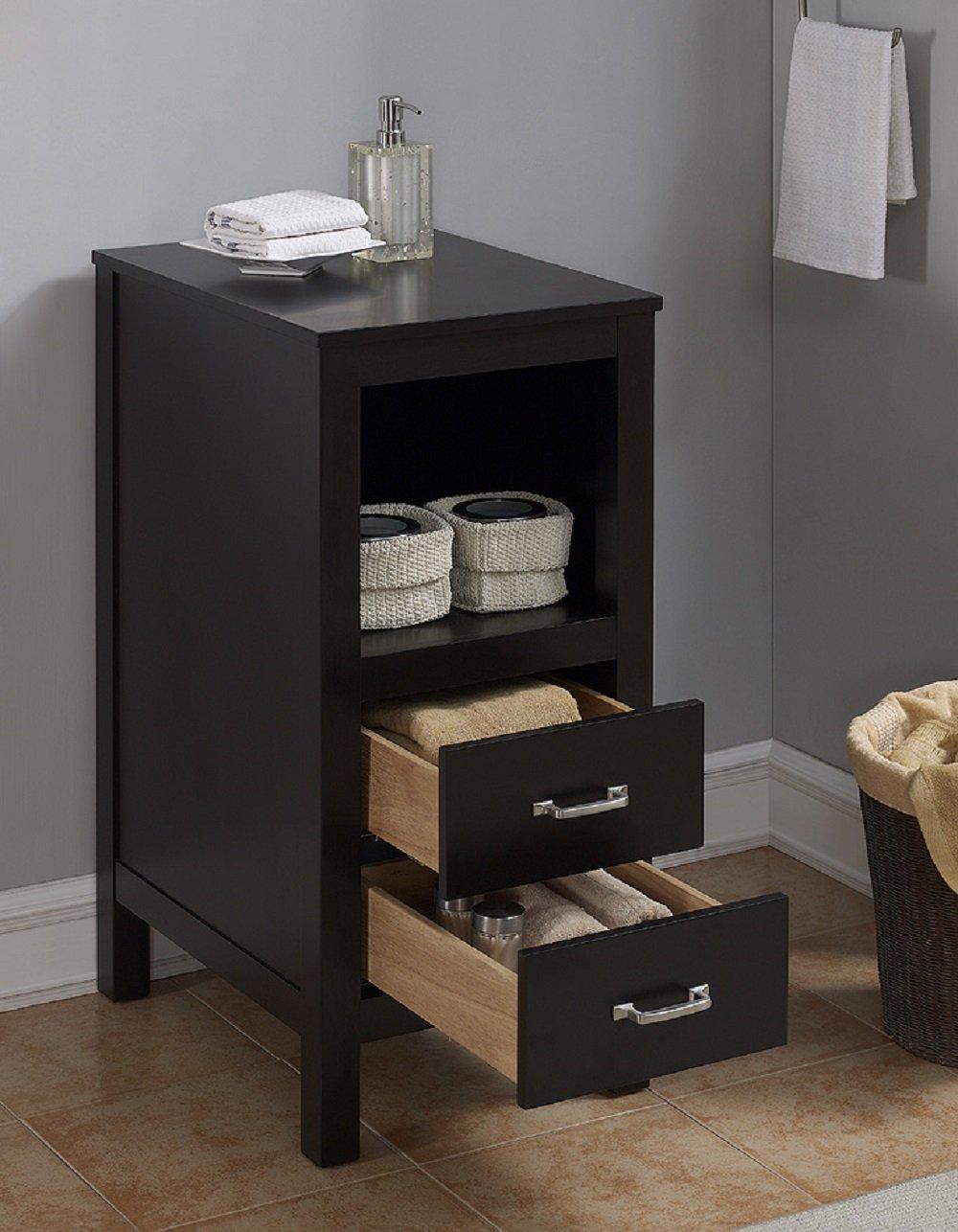 Espresso Runfine Groups RunFine RFVAB0002F Matching Floor Cabinet for Vanity Finish Wood 15.625 x 21.5 x 33.25