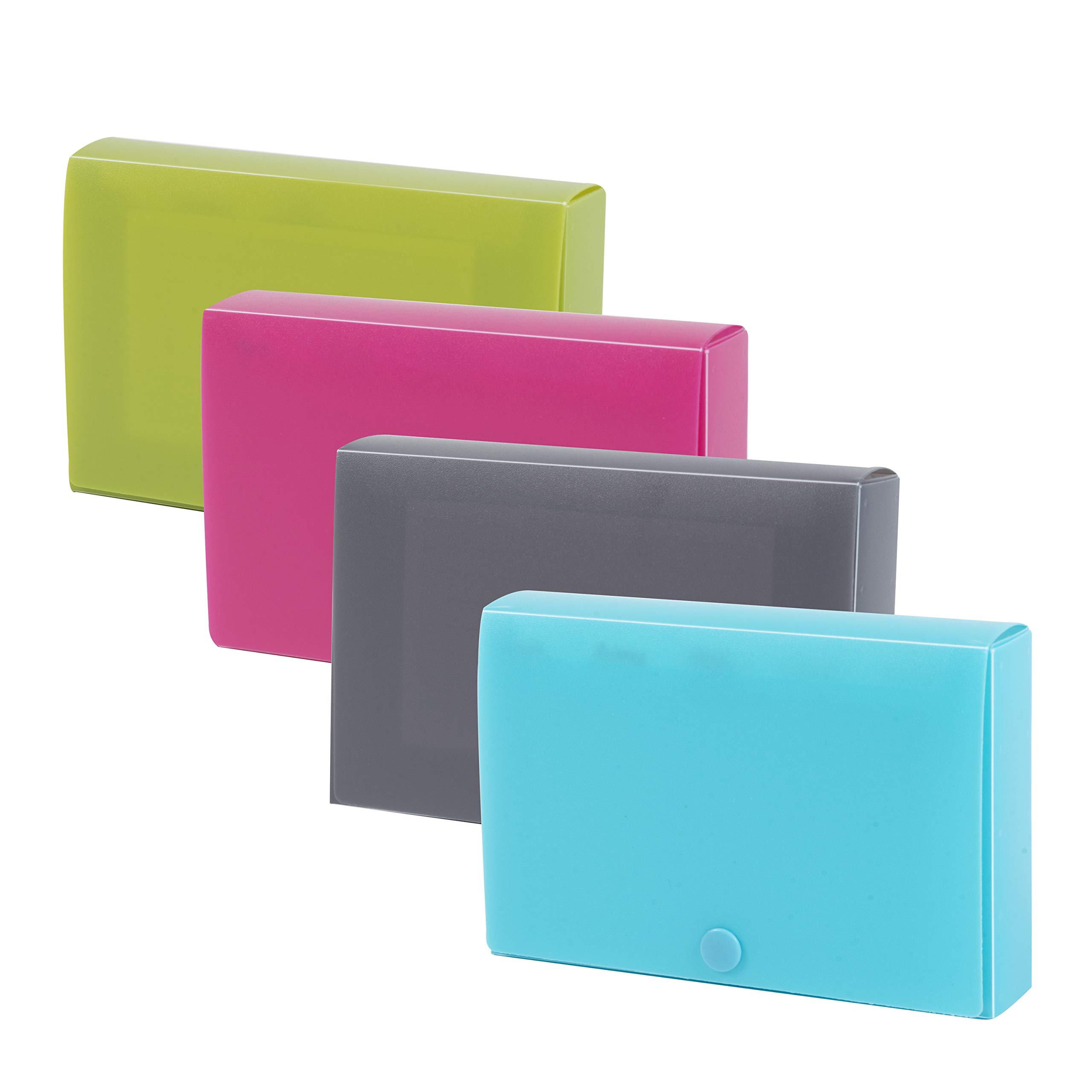DocIt Index Card Holder 3'' x 5'' for Storing Recipe Cards, School Index Cards & More (4-Pack)