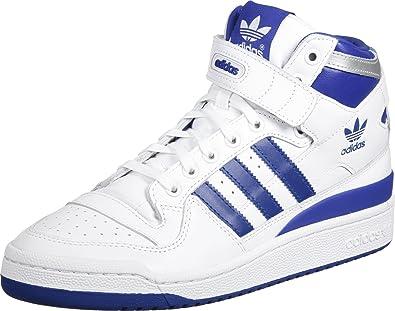 2b6de8ff9fad4 adidas Originals Baskets Forum Mid Refined Bleu Homme: Amazon.fr ...