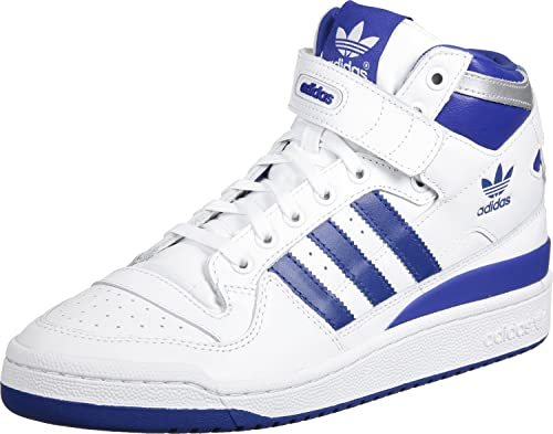 41d591062513 adidas Mens Originals Mens Forum Mid Refined Trainers in Royal White - UK  5.5