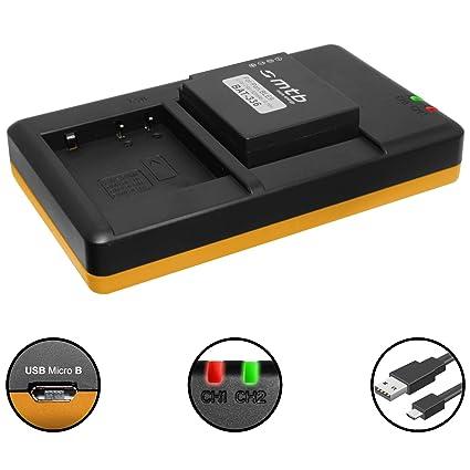 Batería + Cargador doble (USB) para DMW-BLE9(E), BLG10(E) / Panasonic DMC-GF3, GF5, GF6, GX7, GX80, LX100, TZ81, TZ91, TZ10 - v. lista! (contiene ...