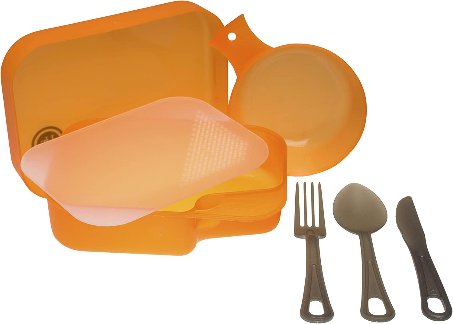 UST PackWare Mess Kit with Self Contained, BPA Free Construction and Eating Utensils for Hiking, Camping, Backpacking, Travel and Outdoor Survival