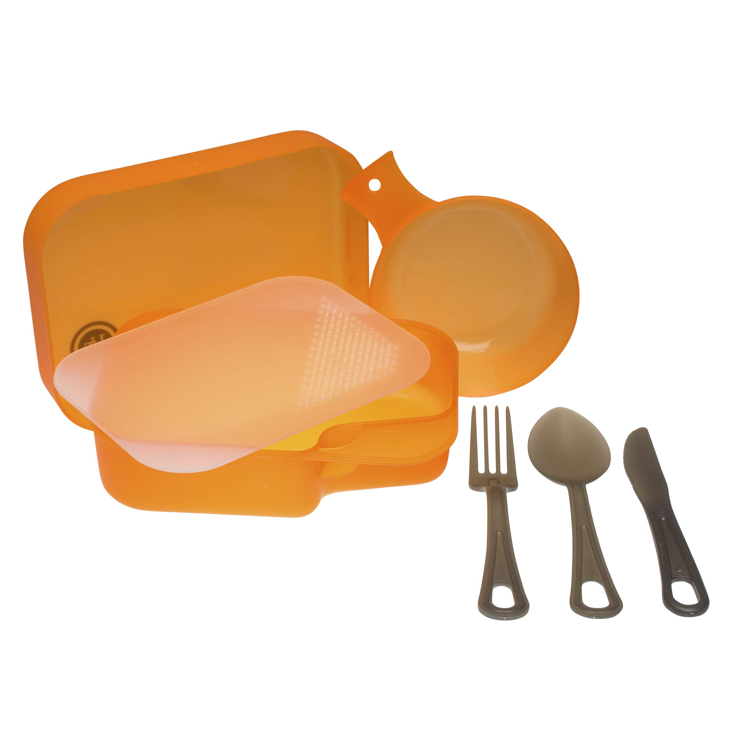 UST PackWare Mess Kit with Self Contained, BPA Free Construction and Eating Utensils for Hiking, Camping, Backpacking, Travel and Outdoor Survival by UST