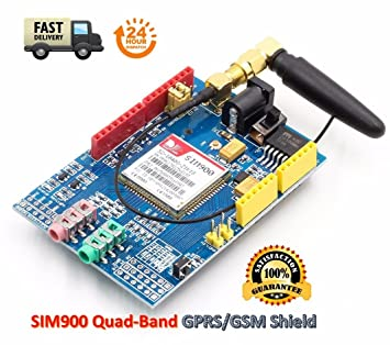 TECNOIOT SIM900 GPRS/gsm Shield Development Board Quad-Band