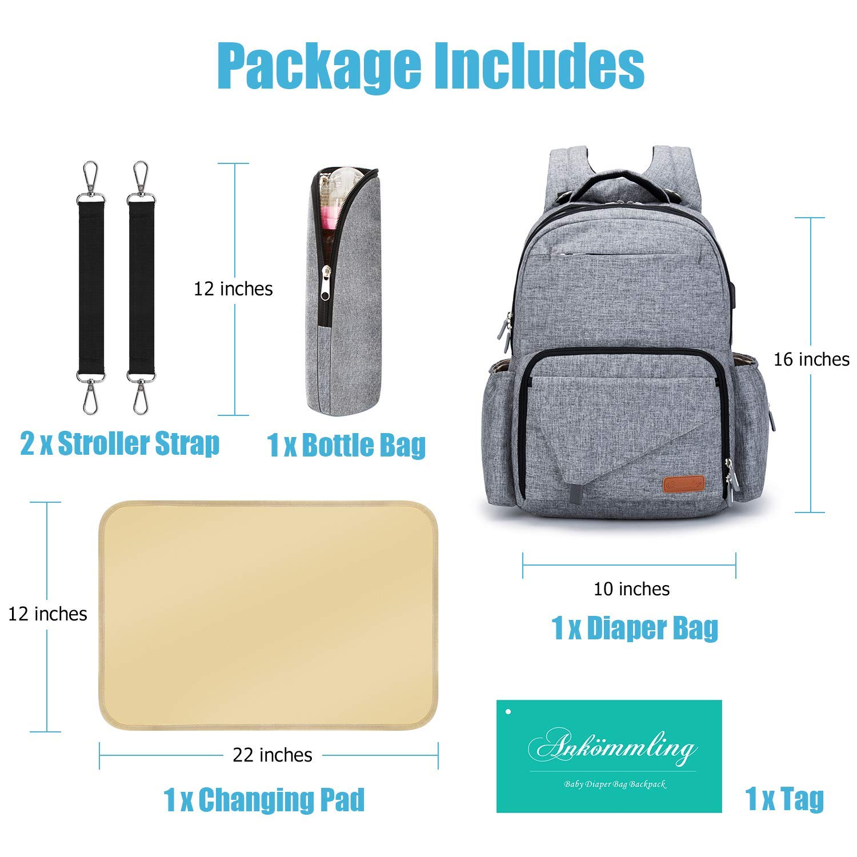 123790b8cd3f Amazon.com   Ankommling Diaper Bag Backpack