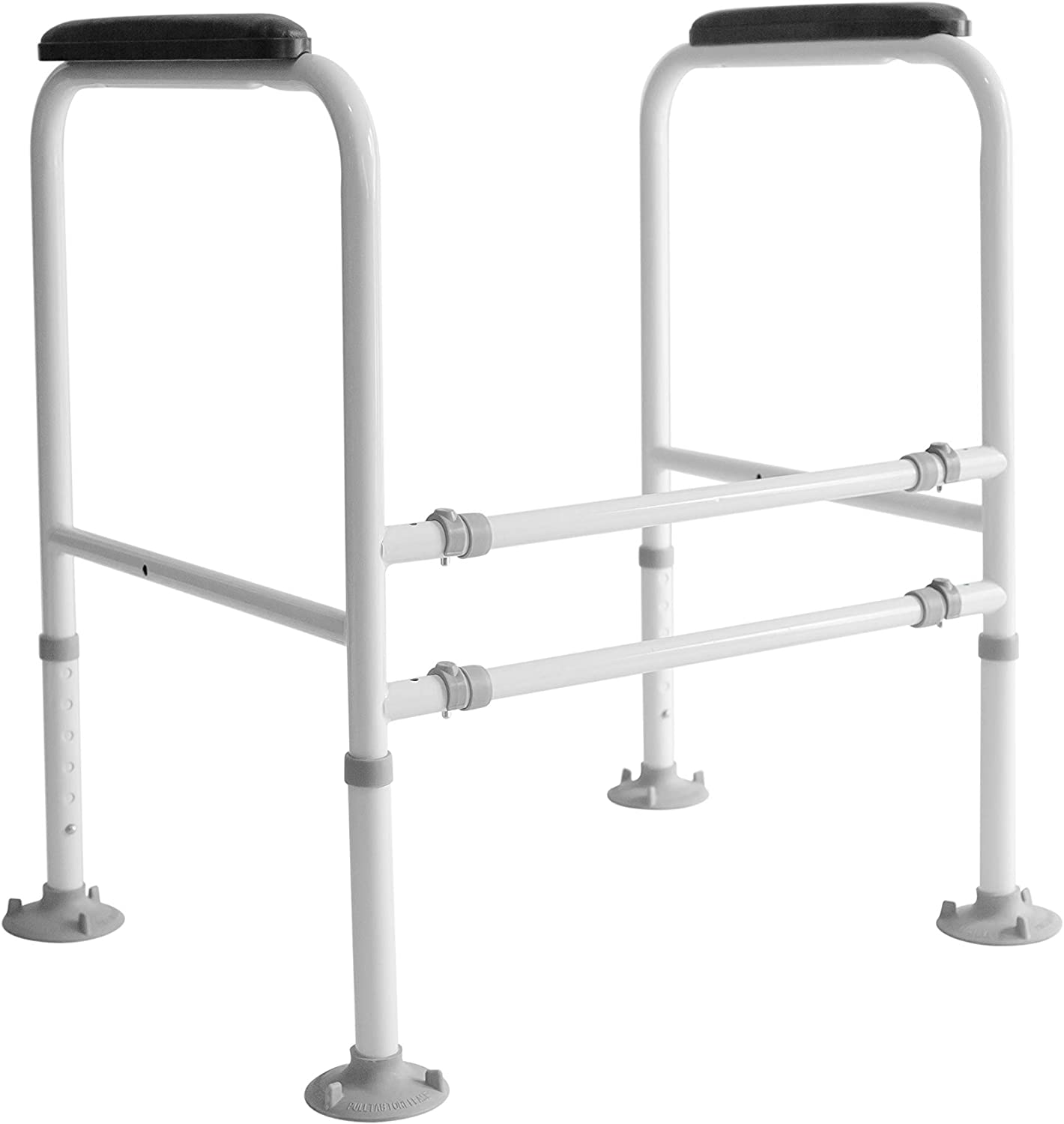Delaine's Toilet Safety Rail - Offers Safety and Dignity for Elderly, Handicapped and Surgery Patients - Freestanding - Large Anti-Slip Foot Pads: Health & Personal Care