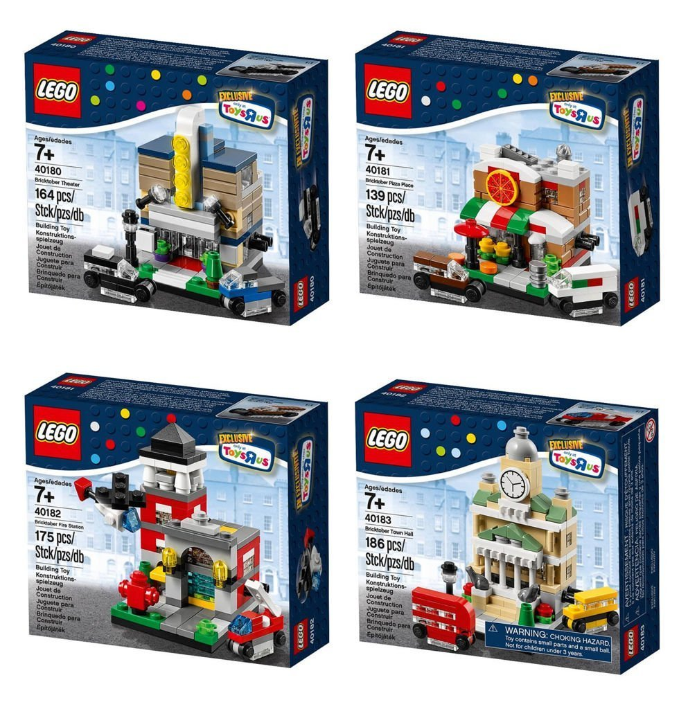LEGO Exclusive 2014 Bricktober Set of Four - Theater (40180), Pizza Place (40181), Fire Station (40182), Town Hall (40183) [並行輸入品]   B01K1V68EO