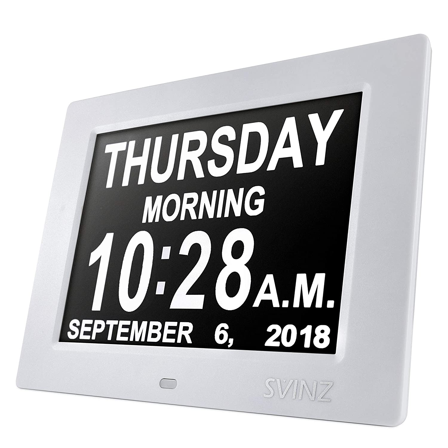 Amazon Svinz 8 Digital Calendar Alarm Day Clock With 3 Alarm