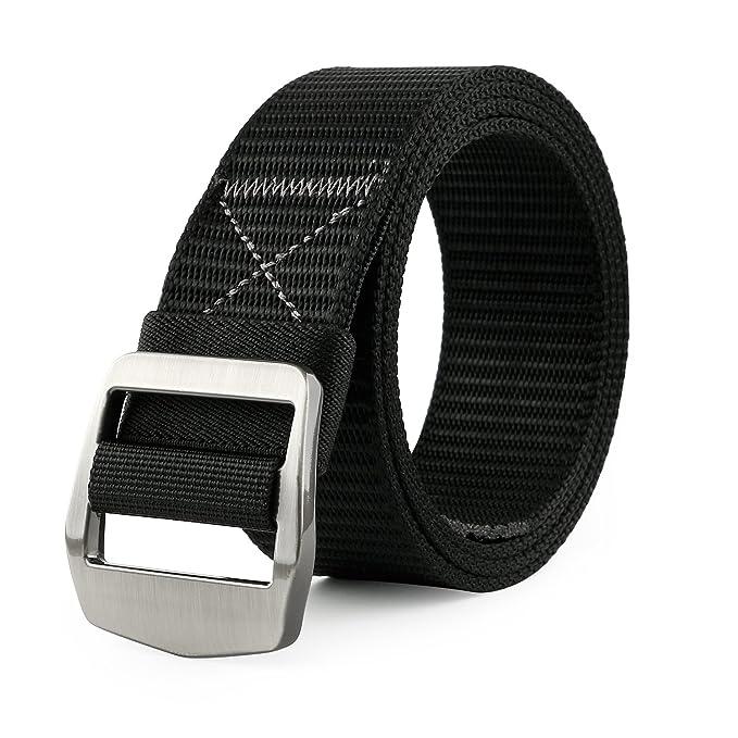 JASGOOD Tactical Heavy Duty Reinforced Nylon Belt for Men Adjustable  Military Webbing Belt Strap with Metal Buckle