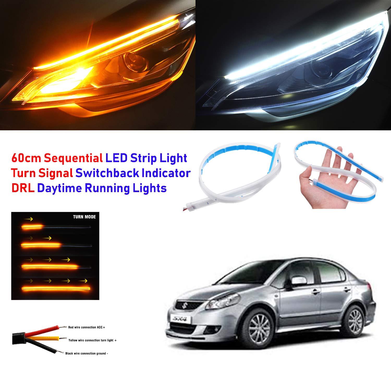 Car Parts Sequential Led Strip Turn Signal Switchback Indicator Daytime Running Light Drl Vehicle Parts Accessories Visitestartit Com
