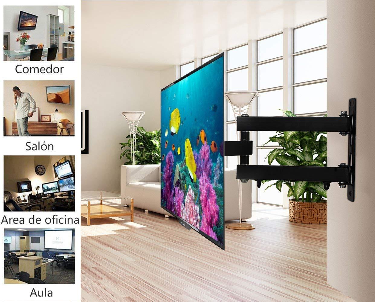 MODERN LIFE Soporte de Pared para TV 10-42 Pulgadas(25-106cm), Inclinable y Giratorio, Máx Vesa 200x200mm, Carga 45KG(99lbs), para Televisores de ...