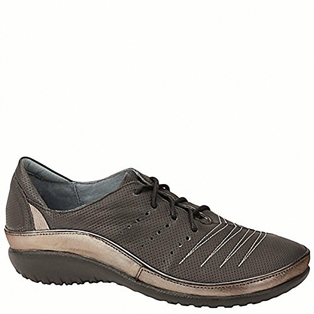 NAOT Kumara Koru Women Flats Shoes B01MDPNSA0 38 M EU|Onyx Lthr/Silver Threads Lthr